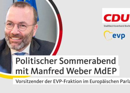 Politischer Sommerabend mit Manfred Weber (MdEP)